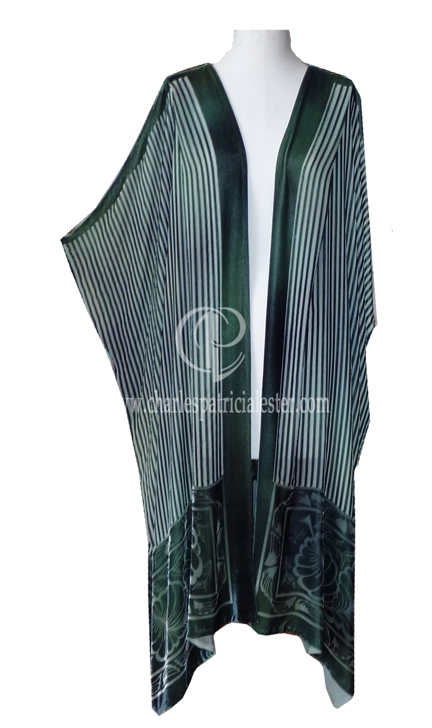 green stripe coat4